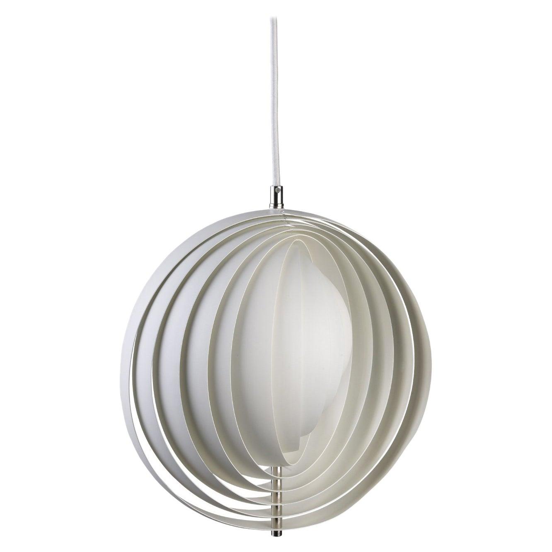 Moon Pendant Light in White by Verner Panton