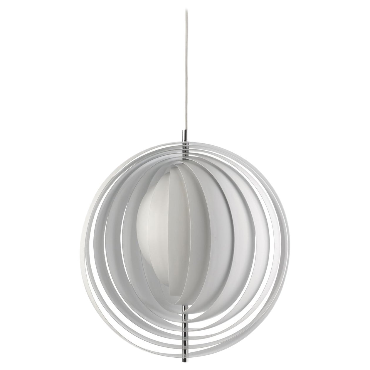Moon Extra Large Pendant Light in White by Verner Panton