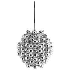 Ball Silver Pendant Light by Verner Panton
