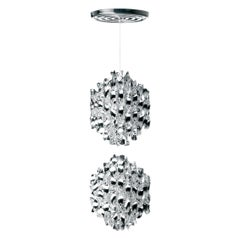 Spiral SP2 Pendant Light in Chrome by Verner Panton