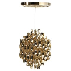 Spiral SP1 Pendant Light with Gold Finish by Verner Panton