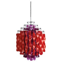 Spiral SP01 Pendant Light in Purple and Red by Verner Panton