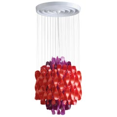 Spiral SP1 Pendant Light in Purple and Red by Verner Panton