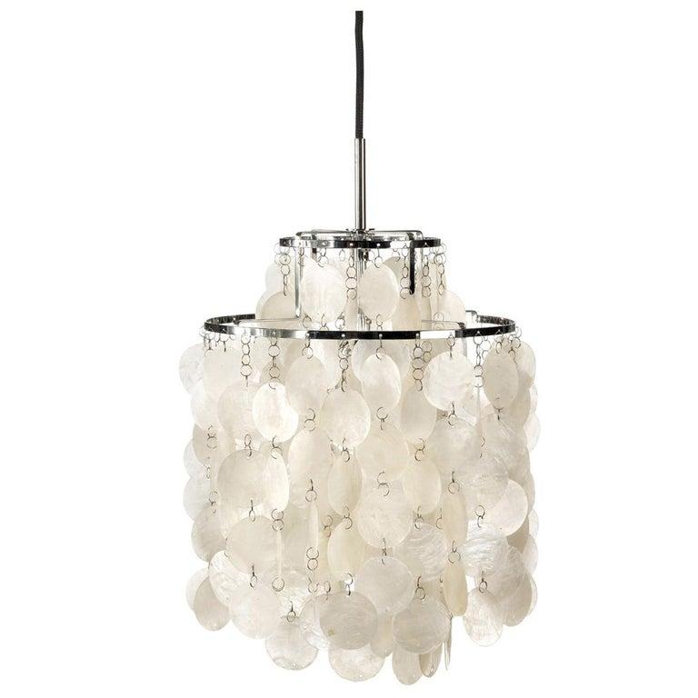 Fun 2DM Seashell Pendant Light by Verner Panton For Sale