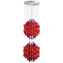 Spiral SP2 Pendant Light in Purple and Red by Verner Panton