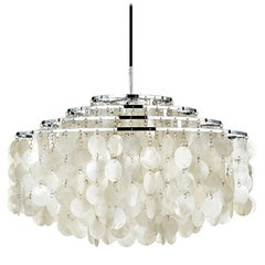 Fun 10DM Mother of Pearl Pendant Light by Verner Panton Quickship