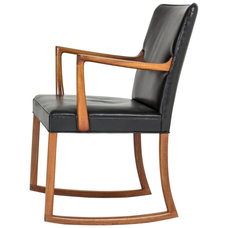 Midcentury Rocking Chair by Ole Wanscher For Sale