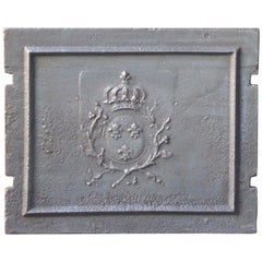 Antique French 'Arms of France' Fireback, 18th Century