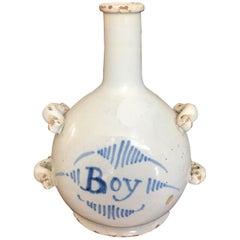 "Drinking Jar 18th Century ""Boy"" Nevere France"