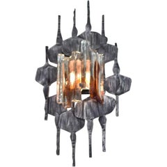 Brutalist Wall Sconce by Tom Ahlstrom and Hans Ehrlich, Sweden, 1960s