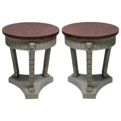 Pair of Neoclassical Sofa Tables