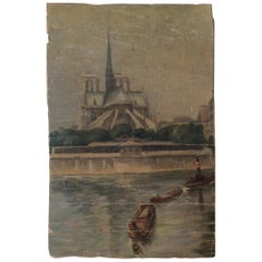 Notre Dame Cathedral and the Seine Paris, circa 1880 Unattributed