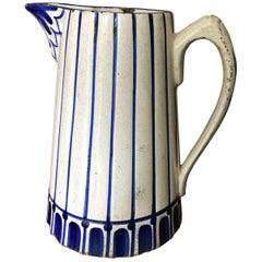 """Porugese Water Jar """"Cavajo"""" 18th Cenury Delft Blue"""