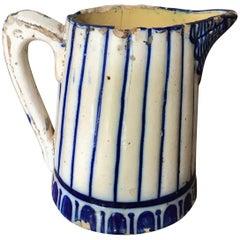18th Century Portuguese Water Jar Delft Blue