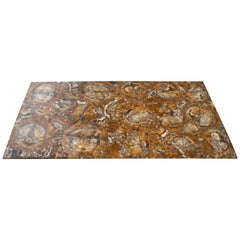 Fossilized Tree Trunk Mosaic Table Top