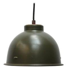 Green Metal Vintage Industrial Pendant Lights