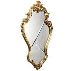 Wall Mirror Classic Frame Gold Rococo Italian Contemporary Design