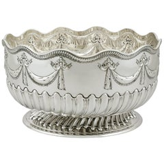 Antique Victorian Sterling Silver Bowl, 1886