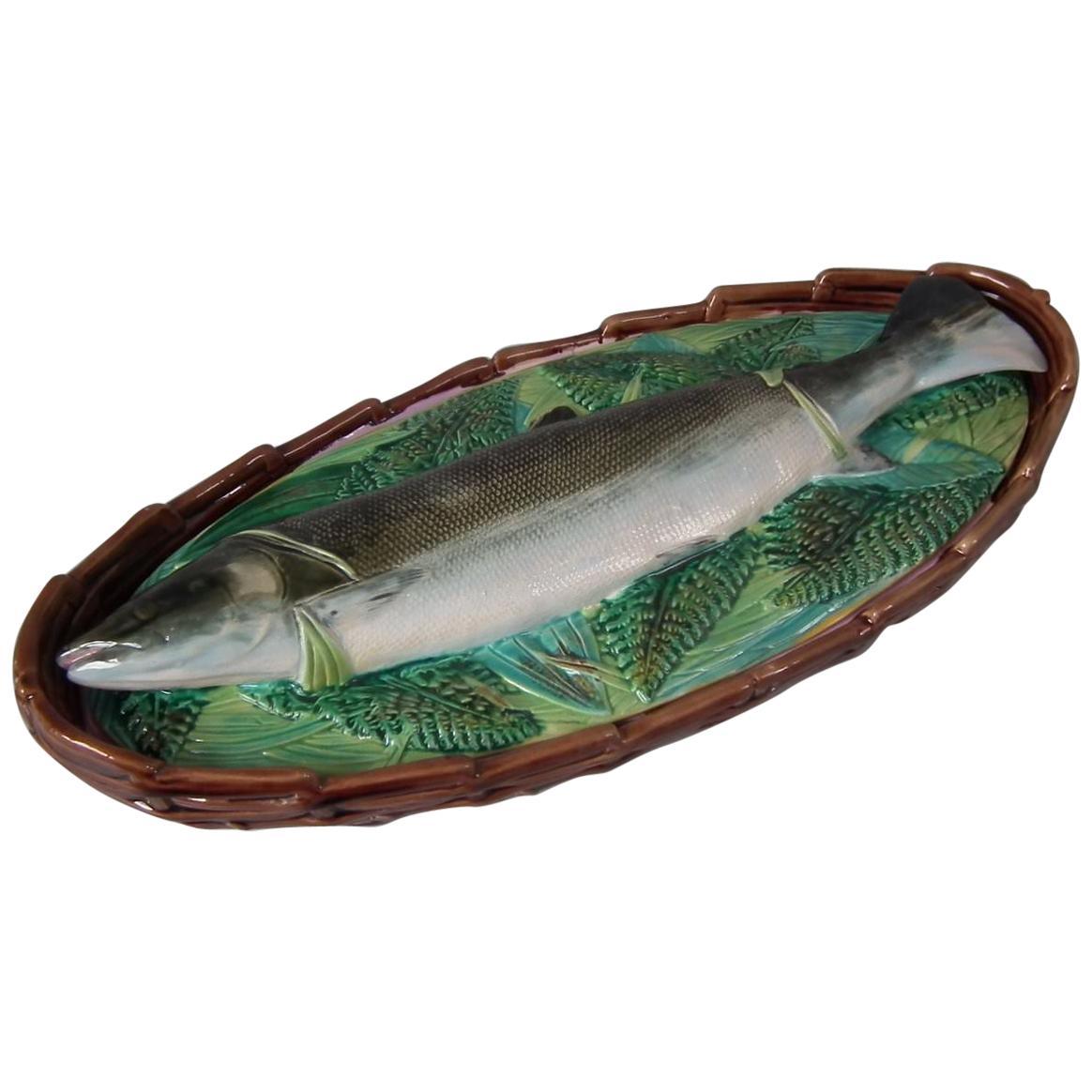 George Jones Majolica Salmon Tureen