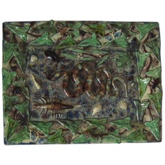 Palissy Rectangular Snake Wall Plaque