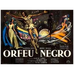 Black Orpheus Huge Original French Film Poster, Georges Allard, 1959