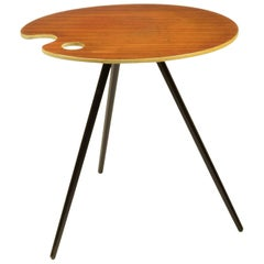 1950s Artist's Palette Side Table in the Style of Lucien de Roeck