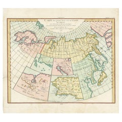 Antique Map of North Europe and East Asia by Vaugondy, circa 1750