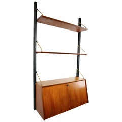 Modular Wall Unit- Secretary by Louis Van Teeffelen For Webe, Dutch Design 1950s