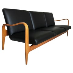 Modernist Thonet Carved and Bentwood Sofa