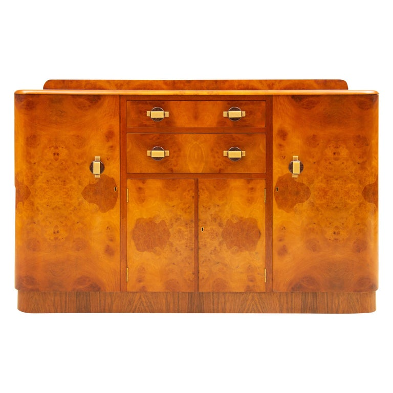 Art Deco Sideboard Credenza from Ireland For Sale