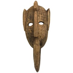 Decorative Carved Primitive African Tribal Mask Sculpture