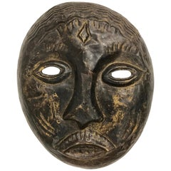 Decorative Large Metal African Tribal Hanging Mask Sculpture