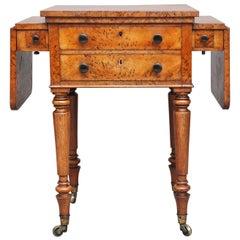 19th Century Pollard Oak Drop-Leaf Side Table
