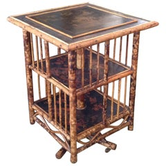 Chinoiserie Bamboo Revolving Bookcase