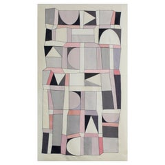 21th Century Modern Italian Handmade Wool Tapestry Zemrude by Alizarina-Studio