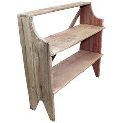 Antique Primitive Potting Bench Book Shelf