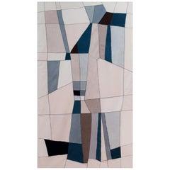 21th Century Modern Italian Handmade Wool Tapestry Gemini 1 by Alizarina-Studio