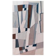 21st Century Modern Italian Handmade Wool Tapestry Gemini 2 by Alizarina-Studio