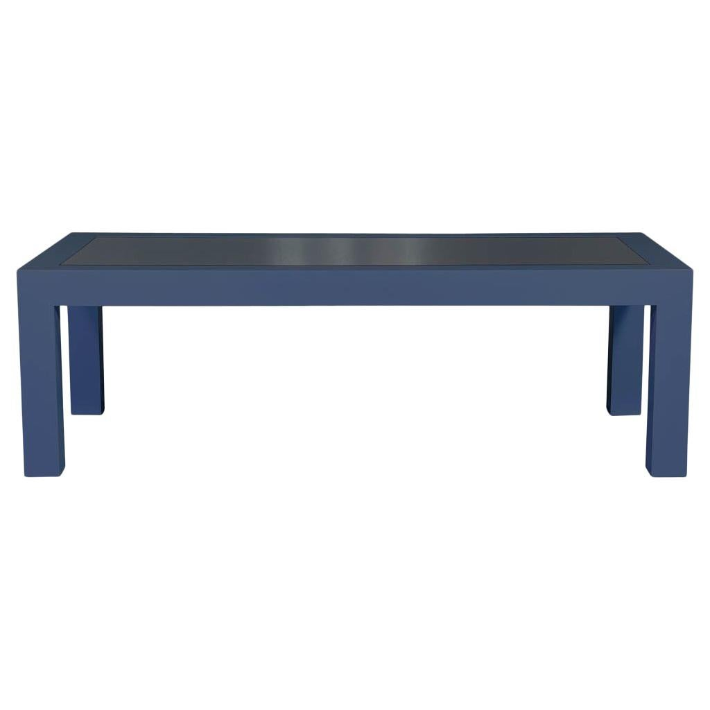 Custom Modern Glass Top Dining Table by Carrocel