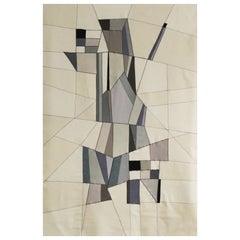 21st Century Modern Italian Handmade Wool Tapestry Zirma by Alizarina-Studio