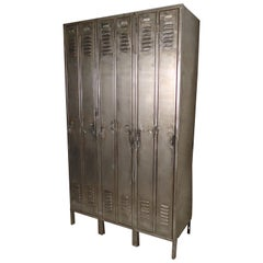 Large Industrial Six Unit Locker