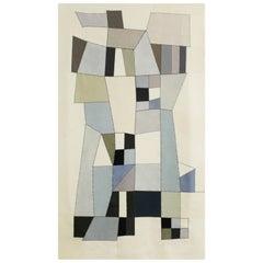 21th Century Modern Italian Handmade Wool Tapestry Zora by Alizarina-Studio