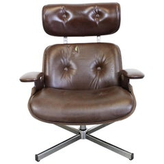 Mid-Century Modern George Mulhauser Plycraft Swivel Lounge Chair
