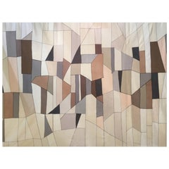 "21st Century Modern Italian Handmade Wool Tapestry ""Rosa"" by Alizarina-Studio"