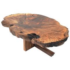 Unique Caucasian Walnut Table, Signed by Jörg Pietschmann