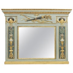 Period Early 19th Century Italian Empire Neoclassical Overmantel Mirror