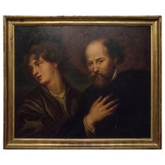 18th Century Oil on Canvas Italian Baroque Rubens and Van Dyck, 1790