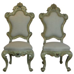 Painted Italian Chairs Set of 2