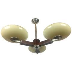 French Art Deco Three-Arm Chandelier