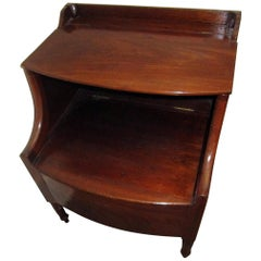 19th Century Georgian Mahogany Bowfront Bedside Table Commode